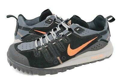 watch 24ff2 980f7 Nike Air Dirt ACG Mens Hiking Trail Shoes Black Orange Suede 317047-081 Sz  10.5