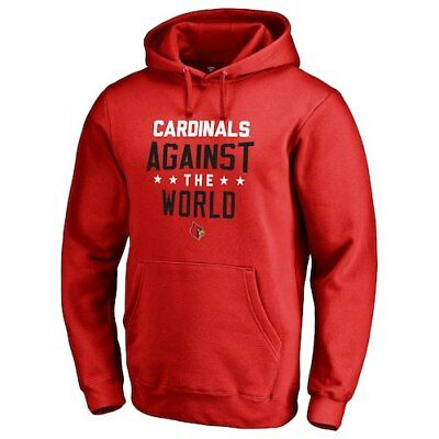 Fanatics Branded Louisville Cardinals Red Against The World Pullover Hoodie