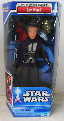 2002 Star Wars Attack Of The Clones Zam Wesell 12 inch Figure - MISB