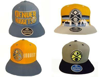 3d62e5fe New Denver Nuggets Mens Adidas Flatbrim Snapback Throwback Cap Hat $26