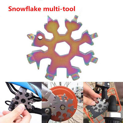 New Snowflake multi-tool 18-in-1 functions Compact and portable outdoor Fix Tool