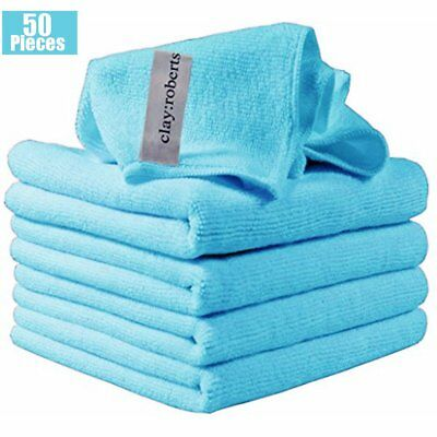 Automotive Tools & Supplies Automotive 50Pcs Microfiber Cleaning Cloth Towel Rag Car Polishing No-Scratch Car Detailing
