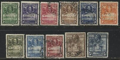 Sierra Leone KGV 1932 1/2d to 5/ used