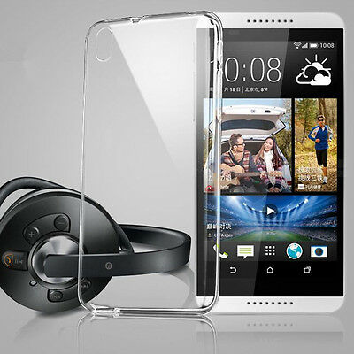 Ultra Thin Slim Soft Silicone TPU Clear Transparent Cover Case For HTC Phone W