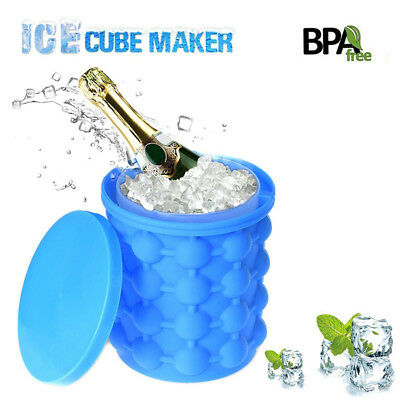 Creative Space Saving Ice Cube Maker Mould Genie Silicone Ice Tray Mold Frozen