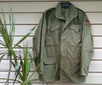 VTG US Army Military Cold Weather Field Coat Jacket Sz XS Spearhead
