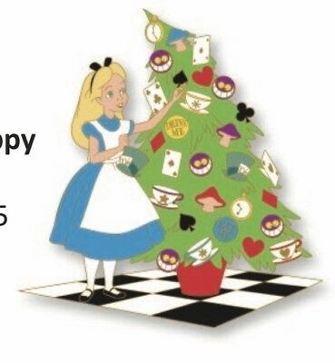 Disney Disneyland Alice In Wonderland Christmas Tree Trimming 2018 LE Pin