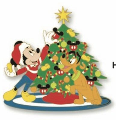 Disney Disneyland Mickey Mouse Pluto Christmas Tree Trimming 2018 LE Pin