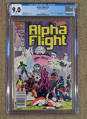 Alpha Flight 33 - CGC 9.0 VF/NM - White Pages - 1st Lady Deathstrike