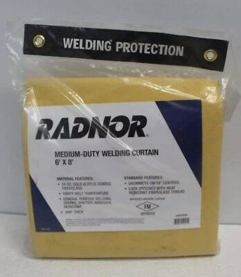 Radnor Medium Duty Welding Curtain  6' X 6 New In Factory Sealed Plastic Bag