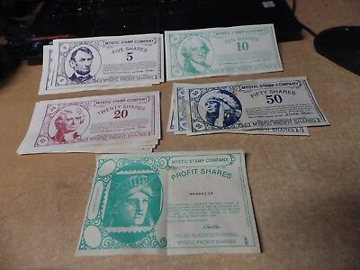 LARGE LOT OF Mystic Stamp Company Profit Shares - Product Coupons Plus Others