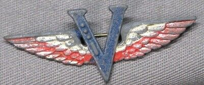Original WWII US V for Victory Patriotic Army Air Corps Sweetheart Pin