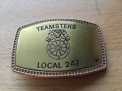 International Brotherhood of Teamsters Labor Union United Leather Belt w Buckle