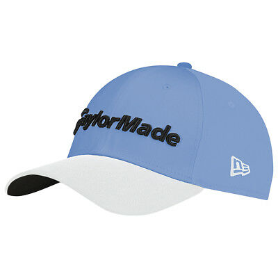 NEW TaylorMade New Era 39Thirty Sky Blue/White Fitted Medium/Large Golf Hat/Cap