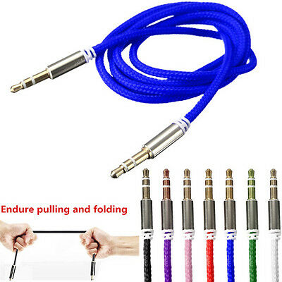 3.5mm Jack Male to Male Car Aux Auxiliary Cord Stereo Audio Cable Phone iPod P