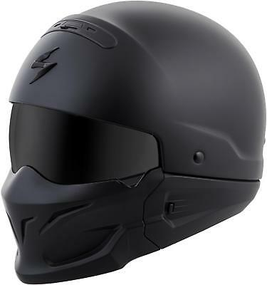 Scorpion Covert Open-Face Solid Helmet Matte Black 3X Cov-0108