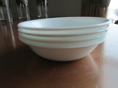 "Set of 4 Corelle Winter Frost White Cereal / Soup / Salad Bowls 6.25"" x 2"""