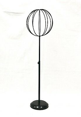 Adjustable Tabletop Black Metal Wire Hat/Wig Stand Hats/Wigs Display Ball 7333C