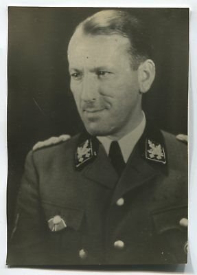 German Wwii Photo From Archive: General In Uniform