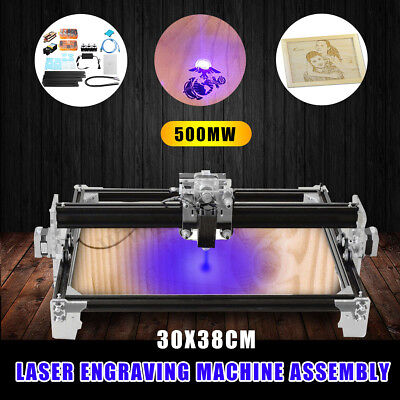 AU EleksMaker 500mW CNC Laser Engraver Engraving Machine Logo Carved Printer DIY