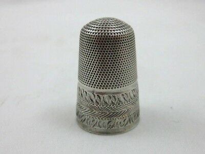 Antique Solid Silver  VERY RARE THIMBLE   EARLY 19th. CENTURY