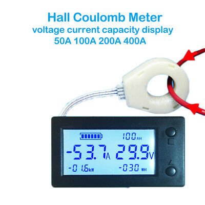 STN Hall Coulomb Meter Counter Voltage Current Power Capacity Indicator eBike