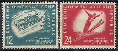 East Germany DDR 1951 SG#E37-E38, 2nd Winter Sports Meeting MH Set #D80967