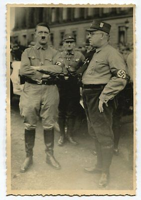 German Wwii Photo From Archive: Men In Uniforms