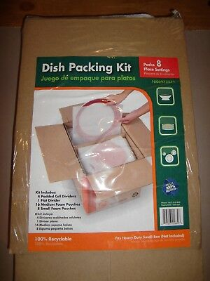 NEW DISH PACKING KIT FITS HEAVY DUT SMALL BOX (not included-) PACKS SET OF 8