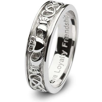 Womens Claddagh Ring Sterling Sterling Silver .925 Authentic Made In Ireland