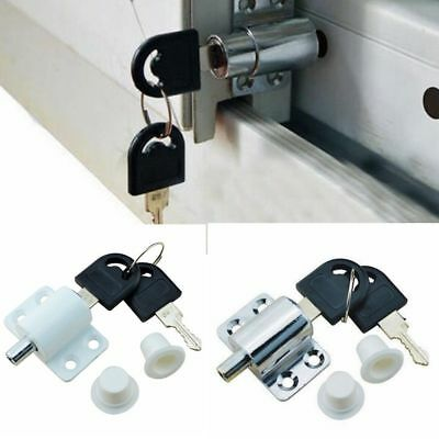 Security Child Zinc Alloy Sliding Door Patio Window Bolt Locking Catch Push Lock