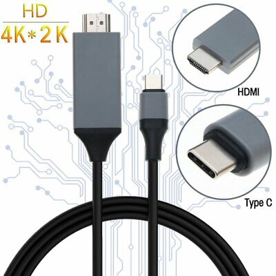 USB 3.1 Type C USB-C to HDMI 4K HDTV Adapter Cable For Macbook HTC LG Huawei
