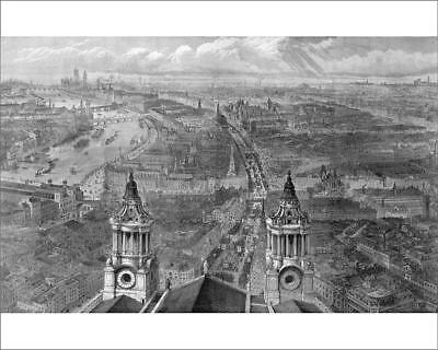 """18214713 10""""x8"""" (25x20cm) Print View of London from St. Paul s, o..."""