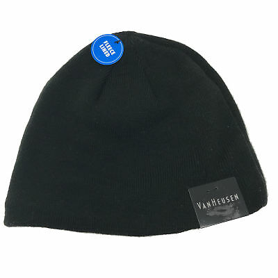 6d15d8db973 NEW Van Heusen Men s One Size Knit Fleece Lined Winter Beanie Hat Cap Black
