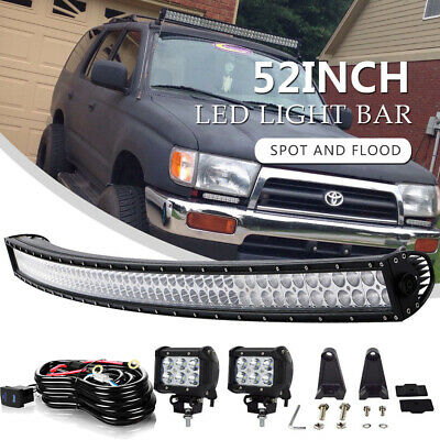 Offroad 700W 52inch LED Light Bar Curved Flood Spot Combo Truck Roof Driving 4X4