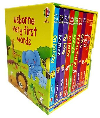 Usborne Very First Words 10 Books Set Collection, Nursery Rhymes, Colours, ABC..