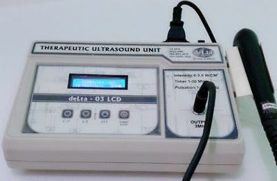 New Portable 3 Mhz Ultrasound Therapy Unit LCD Machine Physiotherapy Ultrasound