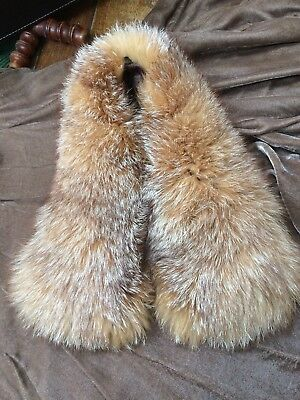 Vintage Style Fox Fur Coat Collar With Buttons