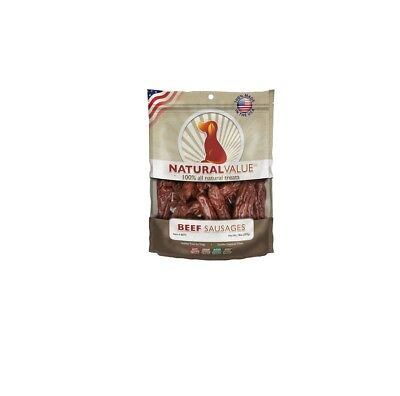 Soft Chew Sausages Beef for Dog Treat - Made in the USA Delicious 14oz