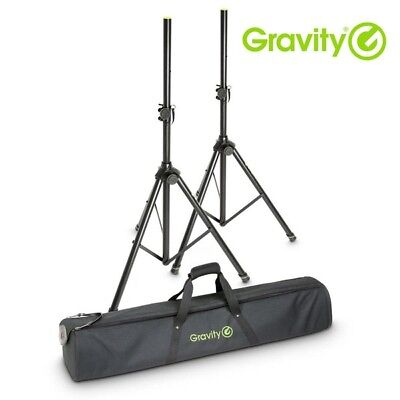 Gravity SS 5212 B SET 1 Adjustable Tripod Speaker Stands (Pair) with Carry Bag