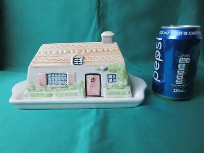 Ceramic Cottage style covered butter or cheese dish