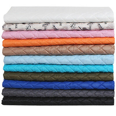 Quilted Polycotton Fabric Nylon Backed Rhombus Shaped Stitching Padded Material