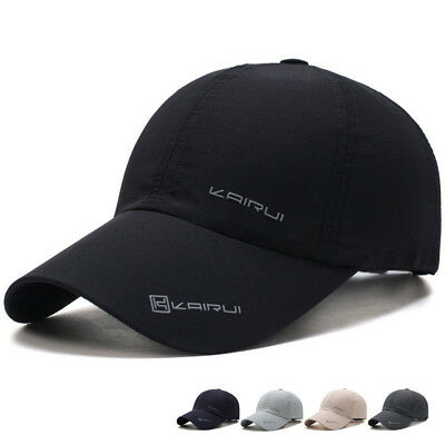 Outdoor Sport Running Baseball Mesh Hat Men Quick-drying Summer Visor Cap