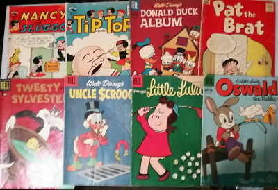 Group of 16 MIXED Cartoon Character Silver Age Comics - 1955-60's Tip Top. Lulu