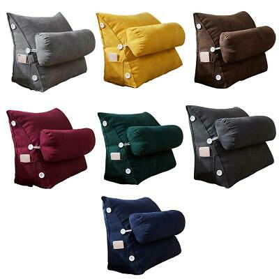 Sofa Bed Chair Office Rest Neck Back Support Wedge Cushion Pillow Adjustable