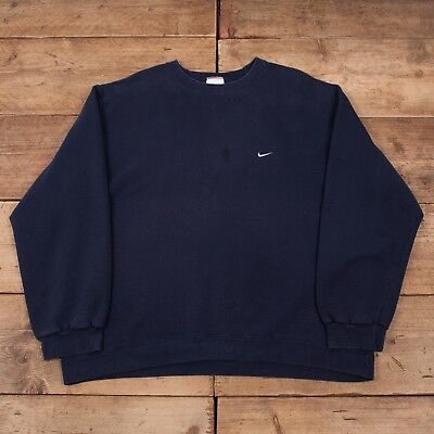 MENS VINTAGE NIKE 90s Navy Blue Crew Neck Sweatshirt Jumper