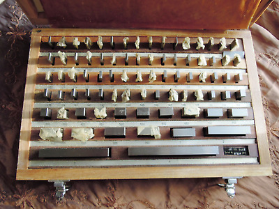 Complete 81 Piece Set Of Machinists Gage Blocks