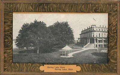 Spring Lake Hotel Mich MI Michigan vintage Postcard