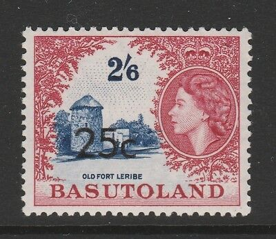 Basutoland 1961 25c on 2/6d TYPE II SG 66a Mnh.
