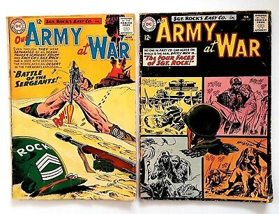 Our Army at War #127, 128 Lot of 2 DC Silver Age War Comics feat. SGT ROCK!